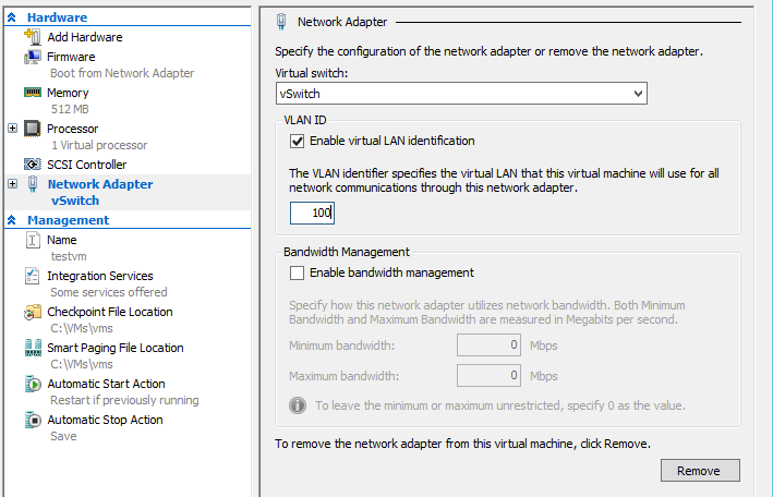 How to assign VLAN ID to virtual NIC in Hyper-V – Michael Stoica